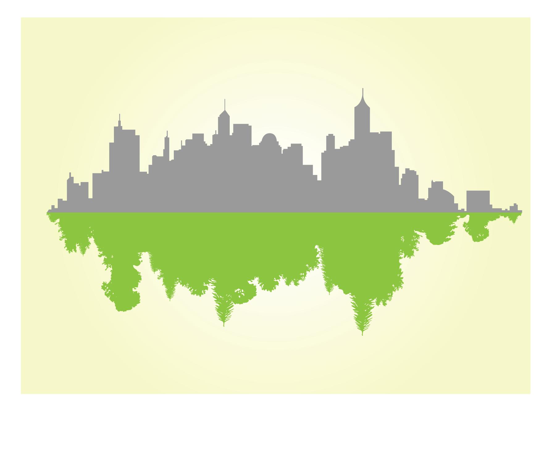 Ilustração de cidade sustentável