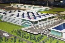 Maquete do projeto de ampliação do Aeroporto de Viracopos