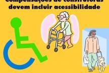Ilustração mostra situações de acessibilidade